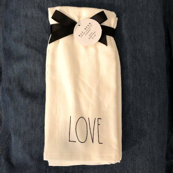 "Rae Dunn ""Love"" & ""Be Kind"" Towels"